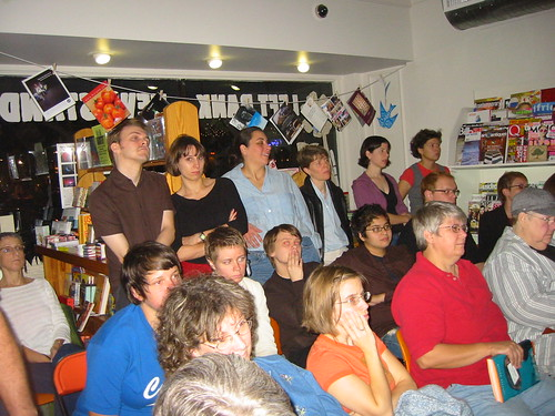 crowd at left bank books