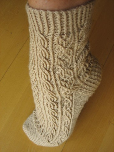 First Bayerische sock, finished!