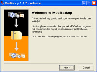 backup thunderbird, freeware, free software, mozbackup