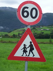 Children crossing sign