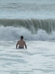 Wave crashes