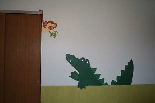 Monkey and Alligator-