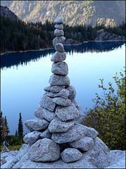 Balance, Rock Carin above Colchuck Lake 10.12.06.