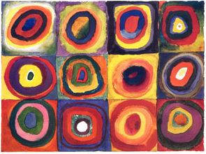 Kandinsky's Farbstudie Quadrate