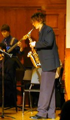 Mark Mullaney solos on Alto Sax