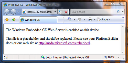 IE7 Vista Web Server