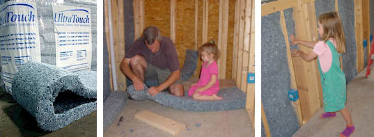 recycled denim insulation, ultratouch, ultra touch, recycled cotton insulation, recycled blue jeans, baby, green insulation, healthy insulation