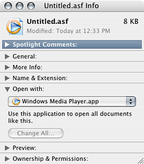 Associate .asf files with Windows Media Player