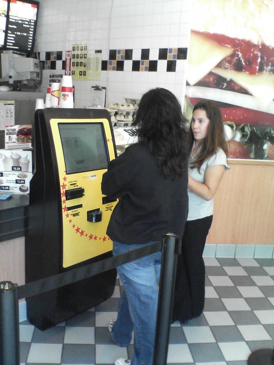 Kiosk at Carl's Jr.