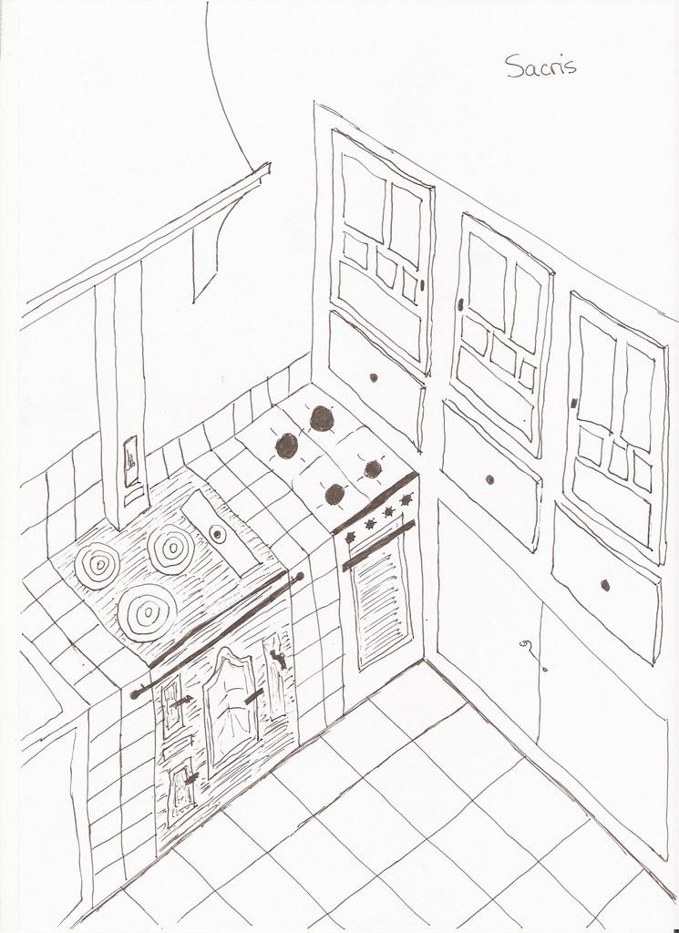 La cocina dibujada por mi