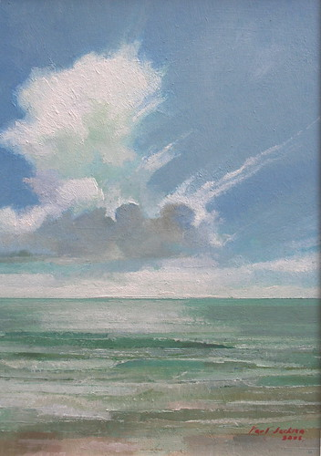 Clouds and Sea (Oil on Board)
