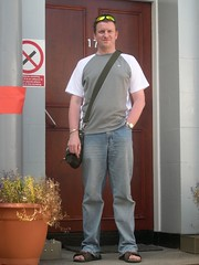Me outside Leith FM; (c) Marilyn Madsen 2006