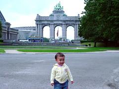 Daniela in Brussels' Park