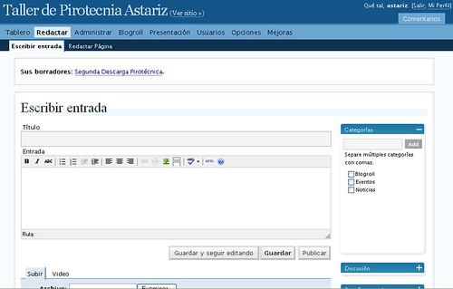 Redacción en Wordpress