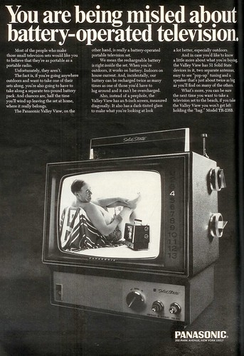 Panasonic Battery TV 1968