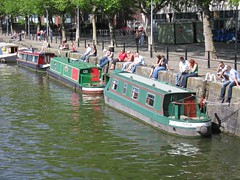 Barcas atracadas en Bristol