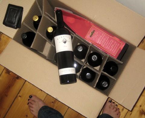 Dozen bottles of wine