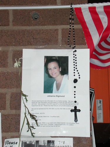 Missing Person Poster/Memorial, St. Vincent's Hospital, West Village, NYC