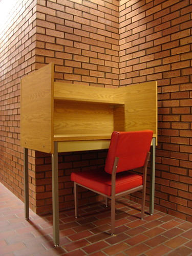 isolated desk
