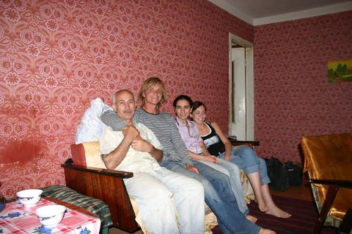 Chilling out at my Tashkent host Zakirs home...