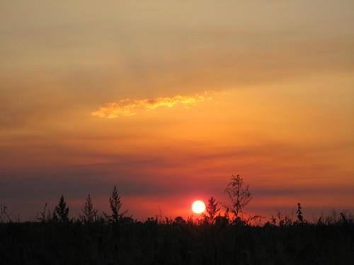 Kazakhstan sunset near Tasqarasuw / カザフスタン夕焼け(Tasqarasuw町の近く)
