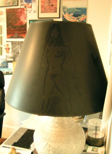 lady in the lampshade