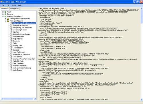 onenote2007xmlviewer