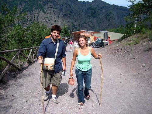 Squinties climbing Vesuvio