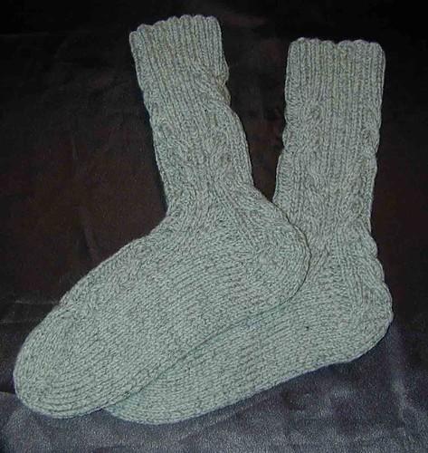 Finished Log Cabin Socks