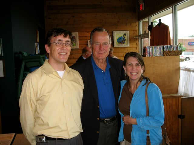 David, George Bush (Senior) and a co-worker