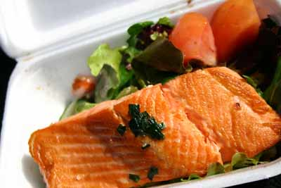 Pan Fried Salmon at Sydney Fish Market