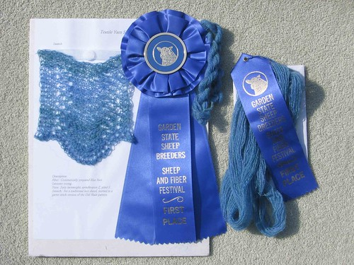 Two blue ribbons
