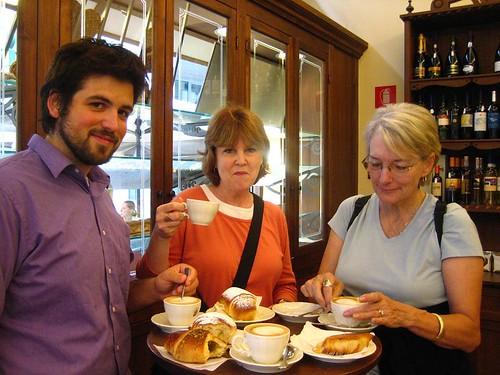 Husbear, Mama Bear, and Pegs at Fratellini Freni