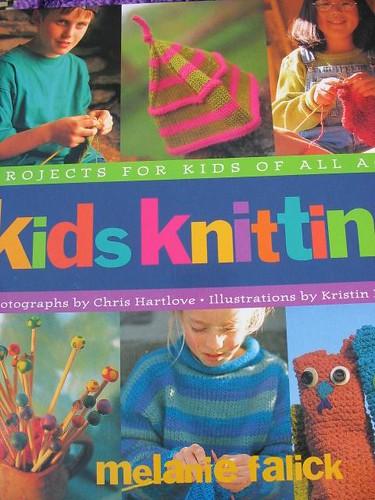 kids knitting cover