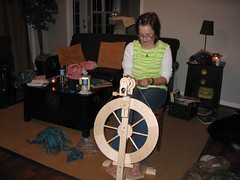 First Try on the Spinning Wheel