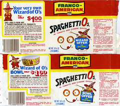SpaghettiOs labels