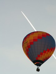 Heissluftballon und Flugzeug Sommer 2006 Dresden