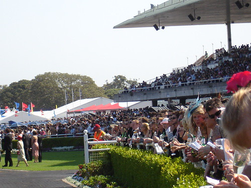 The crowds at Randwick Racecourse