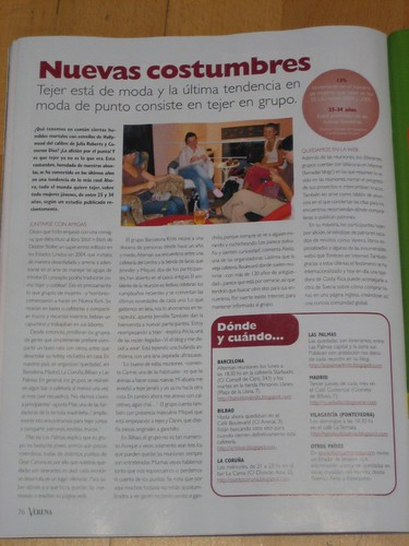 Barcelona Knits! in a magazine
