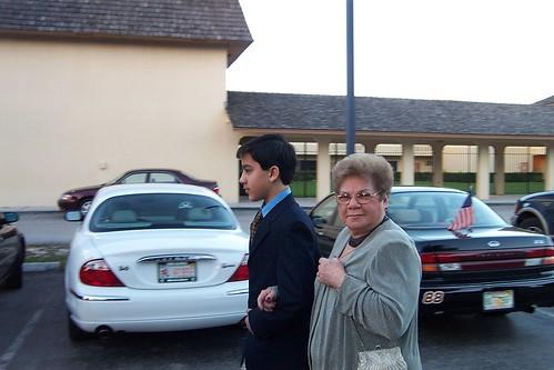 David walks Abuela Aida to Pedro's Wedding