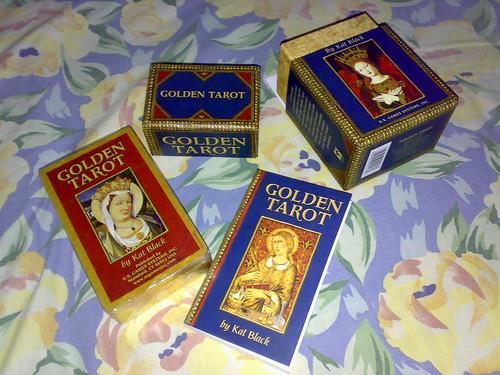 behold, the Golden Tarot deck!