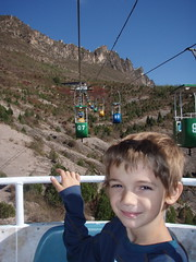 Kieran on the old cable car