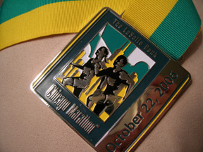 Mike's Chicago Marathon Medal