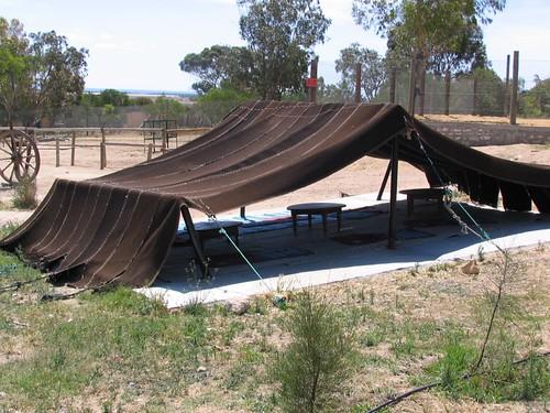 Traditional bedouin tent