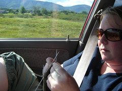 Knitting on the Gaspe Drive