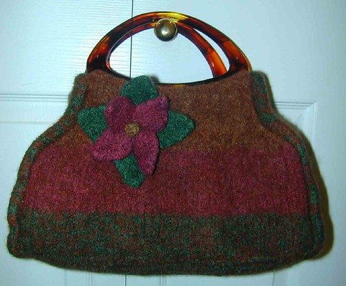 Carpet Bag after felting
