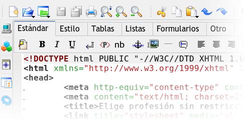 Codificando HTML con Quanta