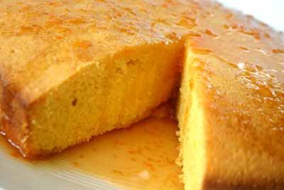 Orange Polenta Syrup Cake Recipe