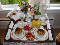 Fabulous Breakfast at the Headlands Inn, Mendocino, CA 8/06