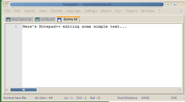 Notepad++ (simple)